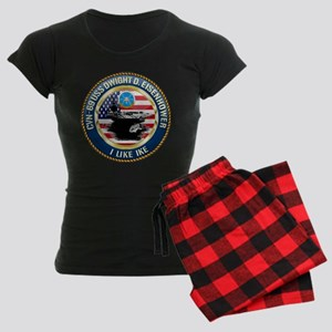 CVN-69 USS Eisenhower Women's Dark Pajamas