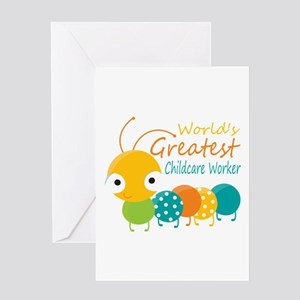 World's Greatest Childcare Worker Greeting Card