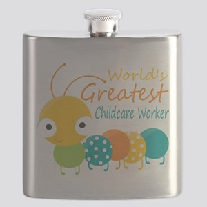World's Greatest Childcare Worker Flask