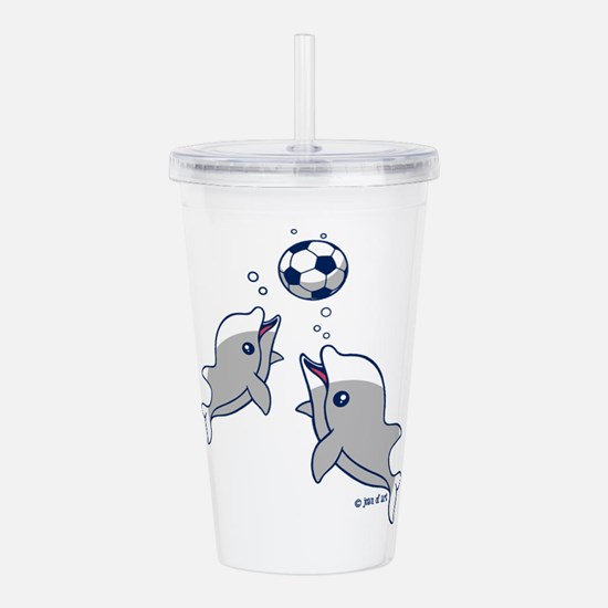 Soccer Dolphins Acrylic Double-wall Tumbler