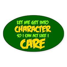 Like I Care Green-Gold Sticker (Oval)