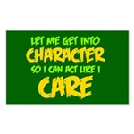 Like I Care Green-Gold Sticker (Rectangle)