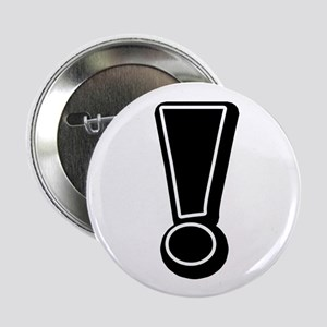 "Exclamation | Black 2.25"" Button"