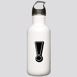 Exclamation | Black Water Bottle