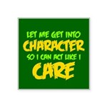 Like I Care Green-Gold Square Sticker 3