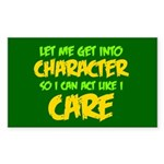 Like I Care Green-Gold Sticker (Rectangle 50 pk)