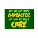 Like I Care Green-Gold Rectangle Magnet (100 pack)