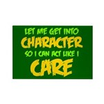 Like I Care Green-Gold Rectangle Magnet (10 pack)