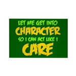 Like I Care Green-Gold Rectangle Magnet
