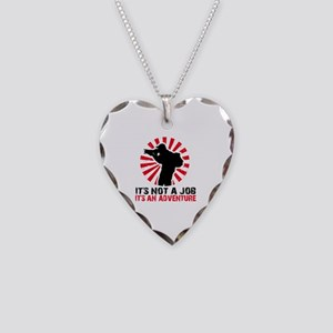 photographer Necklace Heart Charm