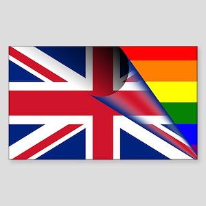U.K. Gay Pride Rainbow Flag Sticker