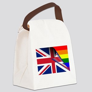 U.K. Gay Pride Rainbow Flag Canvas Lunch Bag