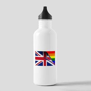 U.K. Gay Pride Rainbow Flag Water Bottle