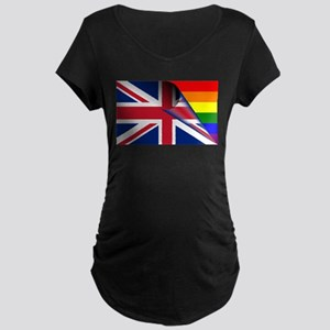 U.K. Gay Pride Rainbow Flag Maternity T-Shirt