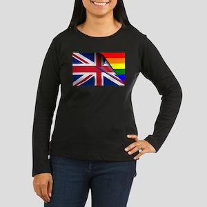 U.K. Gay Pride Rainbow Flag Long Sleeve T-Shirt