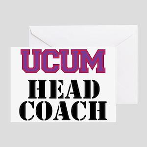 UCUM Head Coach Greeting Card