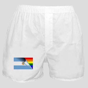 Argentina Gay Pride Rainbow Flag Boxer Shorts