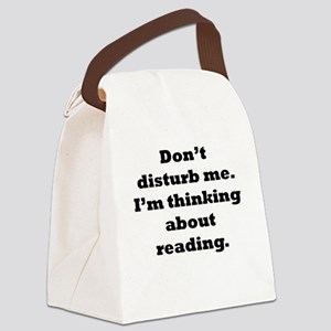 Thinking About Reading Canvas Lunch Bag