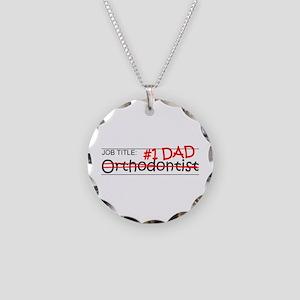 Job Dad Orthodontist Necklace Circle Charm