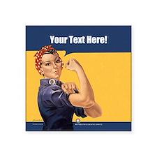 CUSTOM TEXT Vintage Rosie Sticker