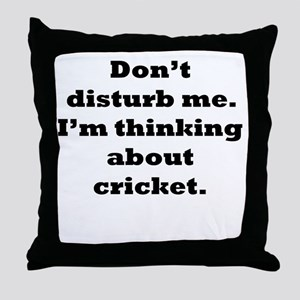 Thinking About Cricket Throw Pillow