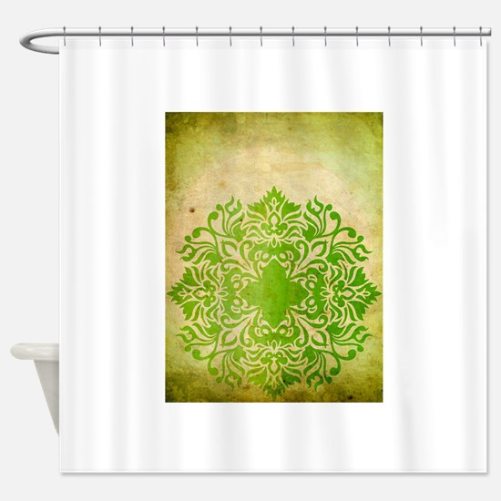 Exotic Green Jade Shower Curtain