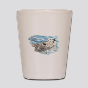 Cute Watercolor Otter Relaxing or Chill Shot Glass