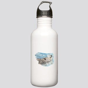 Cute Watercolor Otter Stainless Water Bottle 1.0L