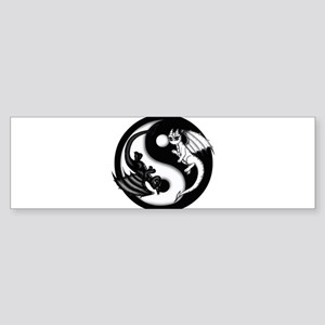 Yin Yang Dragons Bumper Sticker