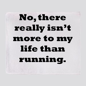 Running My Life Throw Blanket