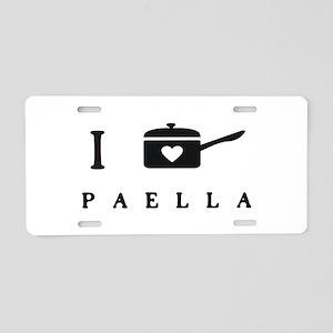 I Cook Paella Aluminum License Plate