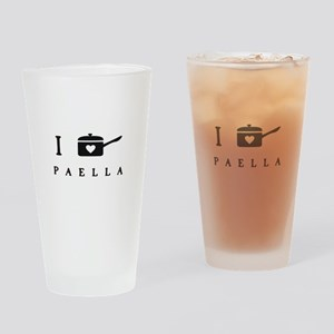 I Cook Paella Drinking Glass