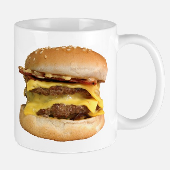 Stacked Burger Mugs