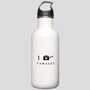I Heart Cook Tamales Water Bottle