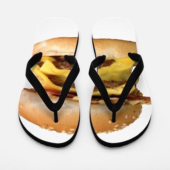 Stacked Burger Flip Flops