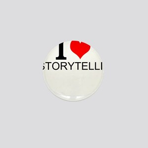 I Love Storytelling Mini Button