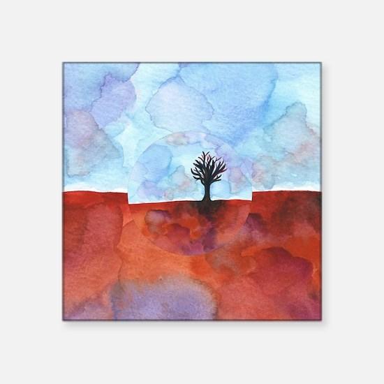"In Limbo - Cinnabar  shower Square Sticker 3"" x 3"""