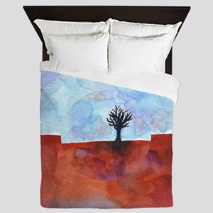 In Limbo - Cinnabar  shower curtain Queen Duvet