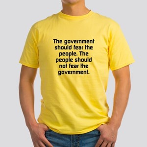 The Government Should Fear The Peop Yellow T-Shirt