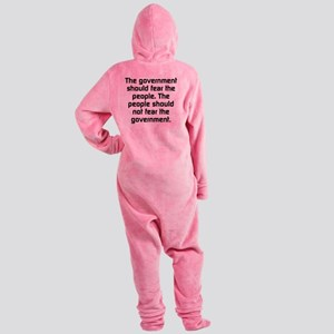 The Government Should Fear The Peop Footed Pajamas