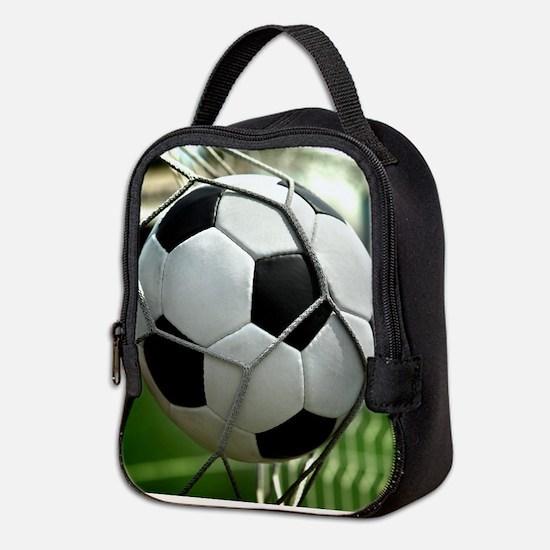 Soccer Goal Neoprene Lunch Bag