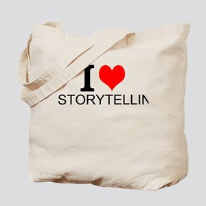 I Love Storytelling Tote Bag