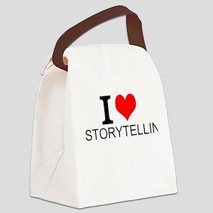 I Love Storytelling Canvas Lunch Bag