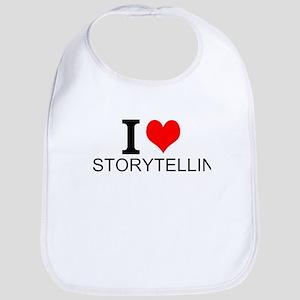 I Love Storytelling Baby Bib