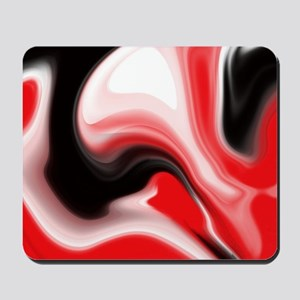 Red and Black Marble Design Mousepad
