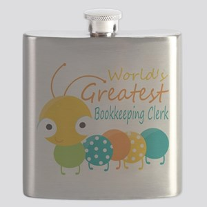 World's Greatest Bookkeeper Flask