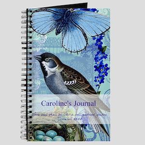 Personalized Bluebird Garden Journal