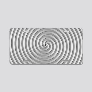 Silver Spiral Aluminum License Plate