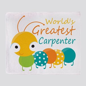 World's Greatest Carpenter Throw Blanket