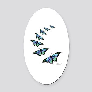 FLY AWAY  Oval Car Magnet
